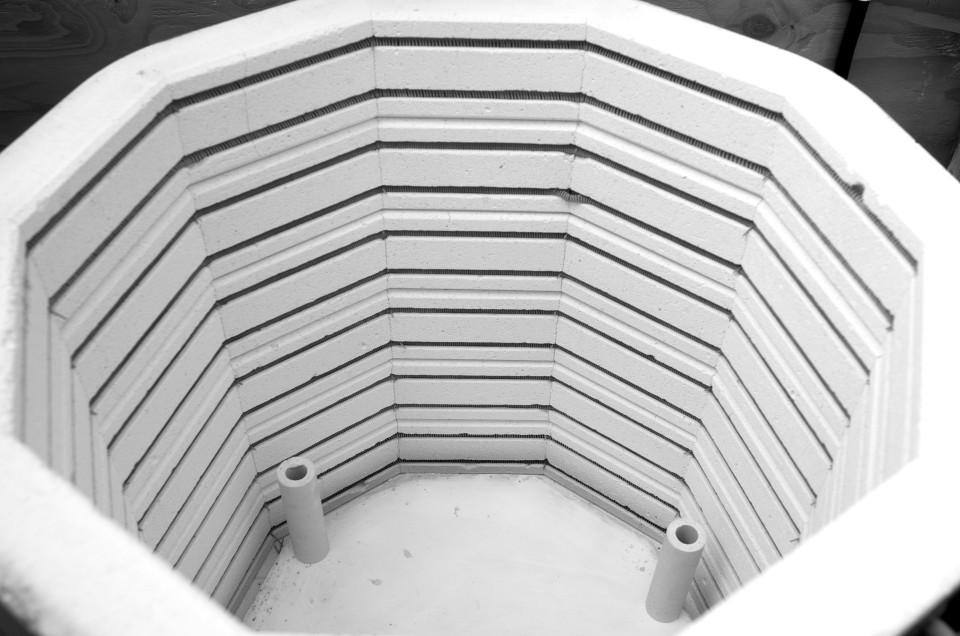 black and white - pottery shed- handmade porcelain -- kiln