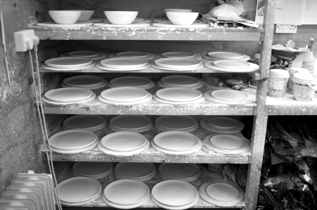 black and white - pottery shed- handmade porcelain -plates- bowls