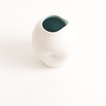 handmade porcelain- tableware - turquoise pourer- dimpled