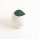 handmade porcelain- tableware - turquoise pourer- dimpled