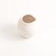 handmade porcelain- tableware - white pourer- dimpled
