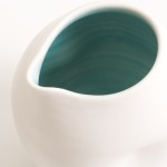 handmade porcelain- dimpled pourer- tableware- turquoise