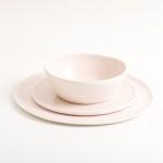 dinnerware-tableware- handmade- porcelain -dinner service- pink- porcelain-