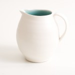 handmade- porcelain- jug- turquoise - tableware- dinnerware