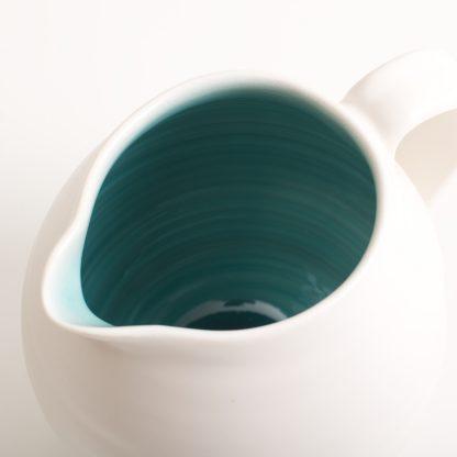 handmade porcelain- turquoise jug- tableware- tabletop