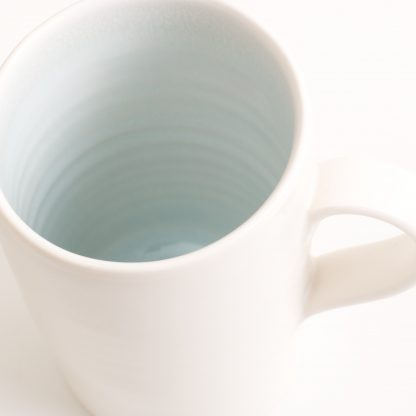 handmade porcelain- mug- tea- blue