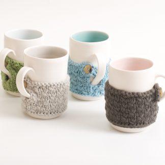 mug-porcelain-handmade-ceramic-tableware-tea-coffee- grey- green- knitted -cosy- tea cos