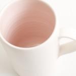 handmade porcelain- mug- tea- pink-