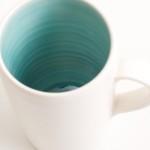 handmade porcelain- mug- tea- turquoise