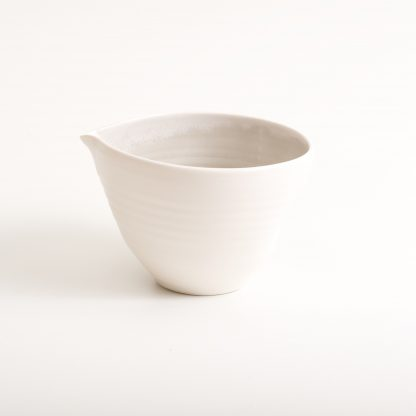 handmade porcelain- nesting bowls- set- baking -cooking -tableware - pouring bowl- grey