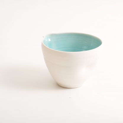 handmade porcelain- nesting bowls- set- baking -cooking -tableware - pouring bowl- turquoise