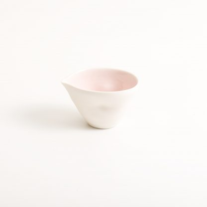 handmade porcelain- nesting bowls- set- baking -cooking -tableware - pouring bowl- pink