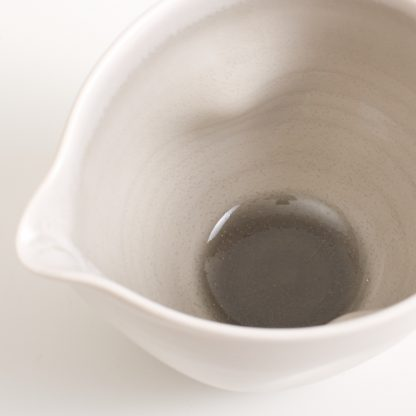 dinnerware- tableware- handmade porcelain- grey pourer- dimpled pouring bowl