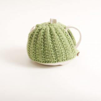 handmade porcelain- tableware- teapot- knitted cosy- tea cosy- ruth cross