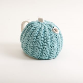 handmade porcelain- tableware- teapot- knitted cosy- tea cosy- ruth cross
