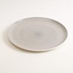 dinnerware- plate- tableware designer- porcelain designer- porcelain plate- made in china- grey plate