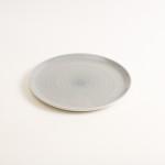dinnerware- plate- tableware designer- porcelain designer- porcelain plate- made in china- grey plate- grey dinnerware- restaurant tableware
