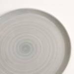 grey plate- tableware designer- porcelain designer- porcelain plate- made in china- grey dinnerware