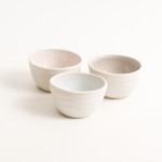 stoneware range- cafe tableware- pink interior- dipping bowl- tiny bowl- salt and pepper bowls- blue- grey