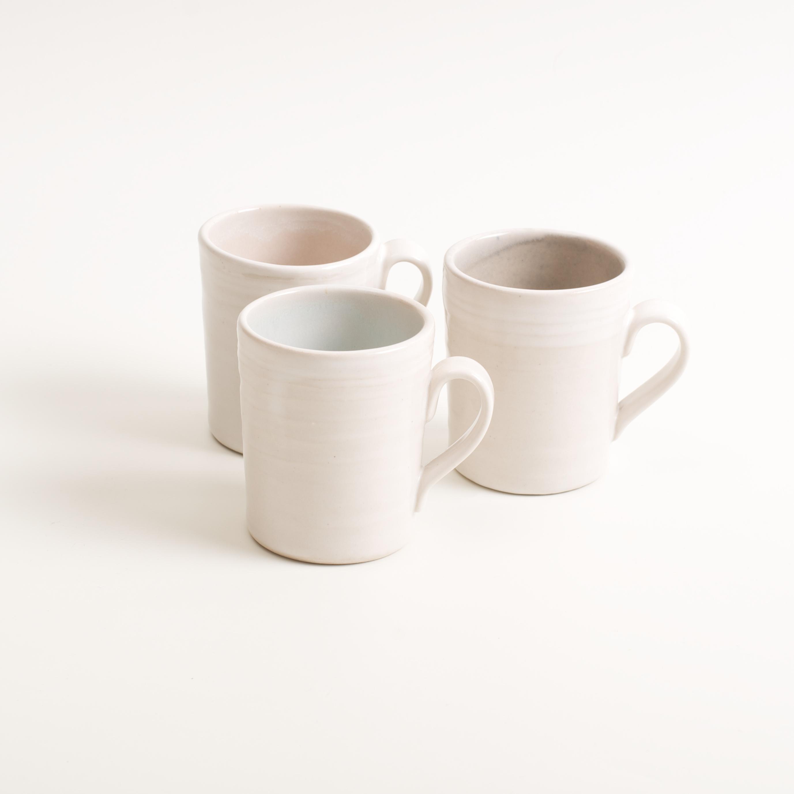 stoneware range- cafe tableware- pink interior- espresso cup- coffee- blue- grey