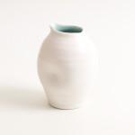 handmade porcelain- tableware- dinnerware- pourer- dimpled pourer- turquoise -