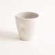 handmade porcelain- tableware- dinnerware- cup- dimpled cup- grey