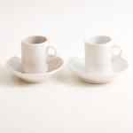 handmade porcelain- espresso cup- coffee cup- saucer- tableware - blue- grey