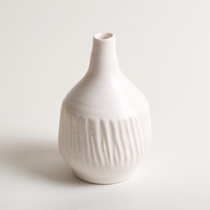 Linda Bloomfield handmade porcelain Morandi-inspired bottle - white