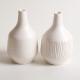Linda Bloomfield handmade porcelain Morandi-inspired bottles - white
