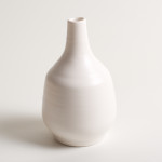 Linda Bloomfield handmade porcelain Morandi-inspired bottle - white