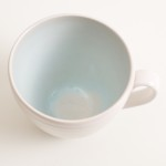 blue cup- stoneware cup- grayshott pottery- teacup, coffee cup