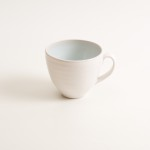 grayshott cup- coffee cup- tea cup- blue cup- cafe ware- cafe range stoneware collection