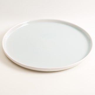 Linda Bloomfield large stoneware platter, plate - blue