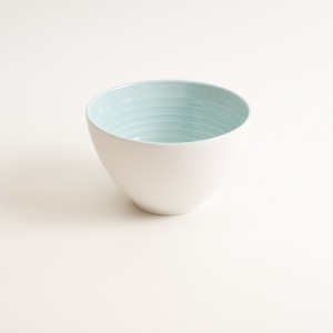 porcelain tableware- made in china- blue bowl- linda bloomfield- porcelain designer- tableware designer