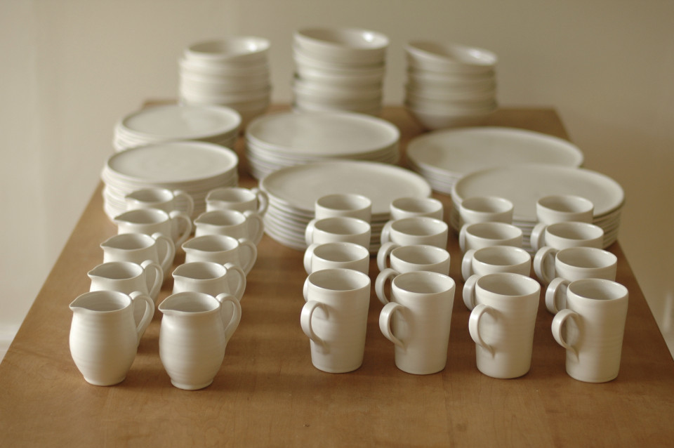 handmade porcelain- dinner set- dinnerware - handmade tableware- dining