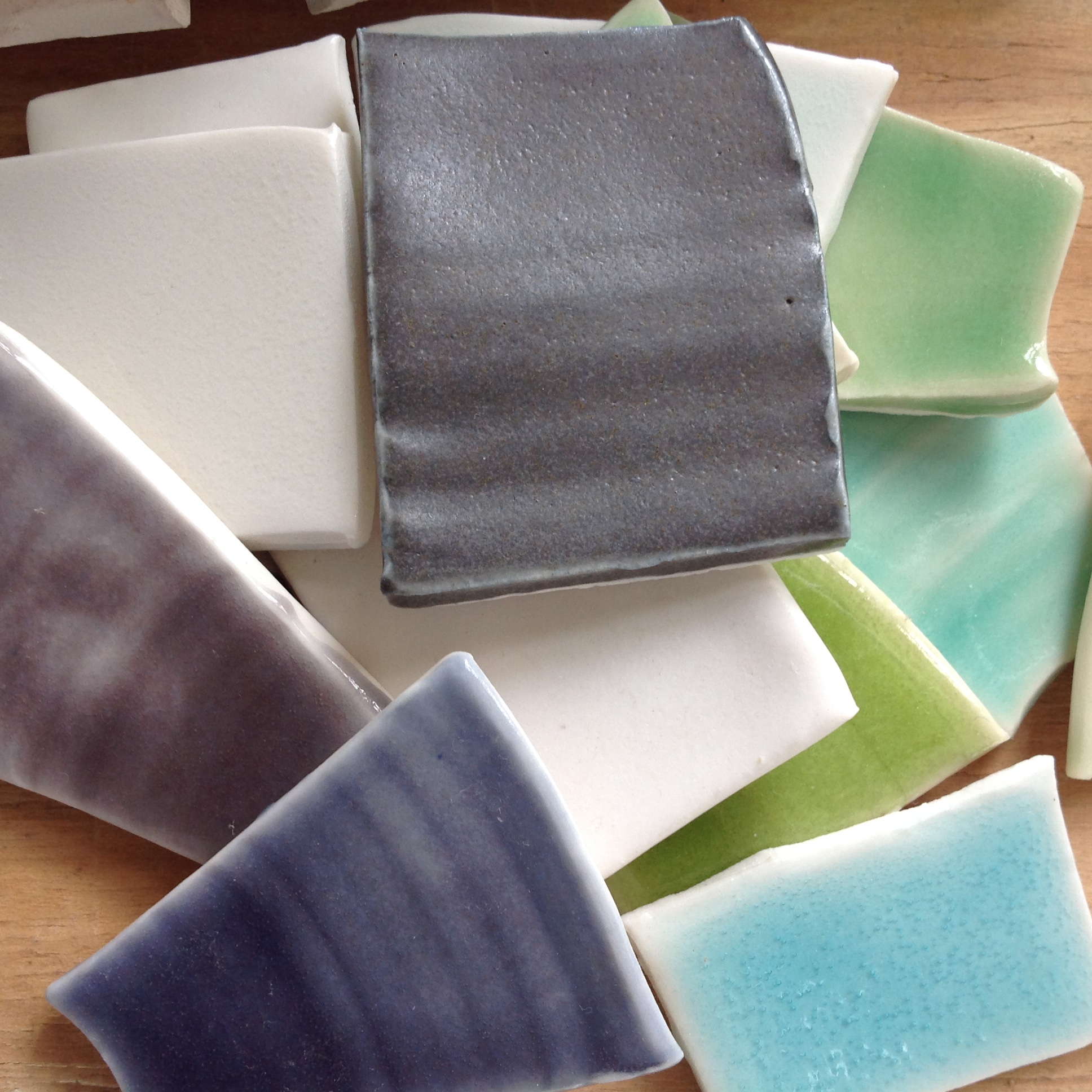 Linda Bloomfield - glaze test tiles