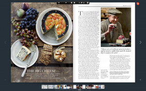Platters in Harrods magazine