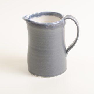 Handmade jug- black jug- porcelain jug- linda Bloomfield-