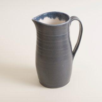 Linda Bloomfield- handmade porcelain- black jug