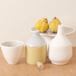 Linda Bloomfield handmade Morandi porcelain bottles (and quinces!)