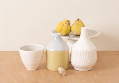 Linda Bloomfield handmade Morandi porcelain bottles (and quinces!)