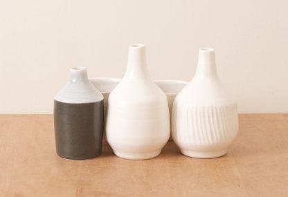 Linda Bloomfield handmade Morandi-inspired porcelain bottles