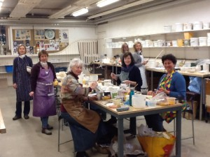 Glazing course at West Dean College