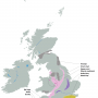 Map of clay deposits in UK