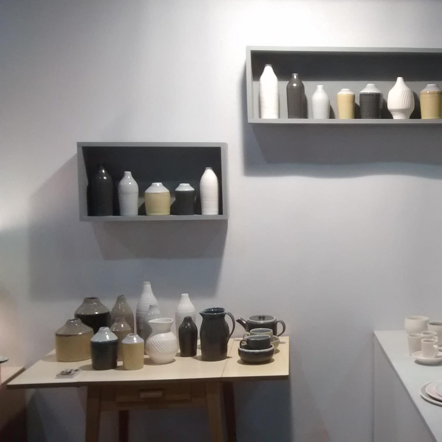 Ceramic bottles inspired by Morandi