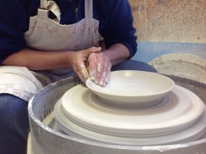Throwing porcelain bowl