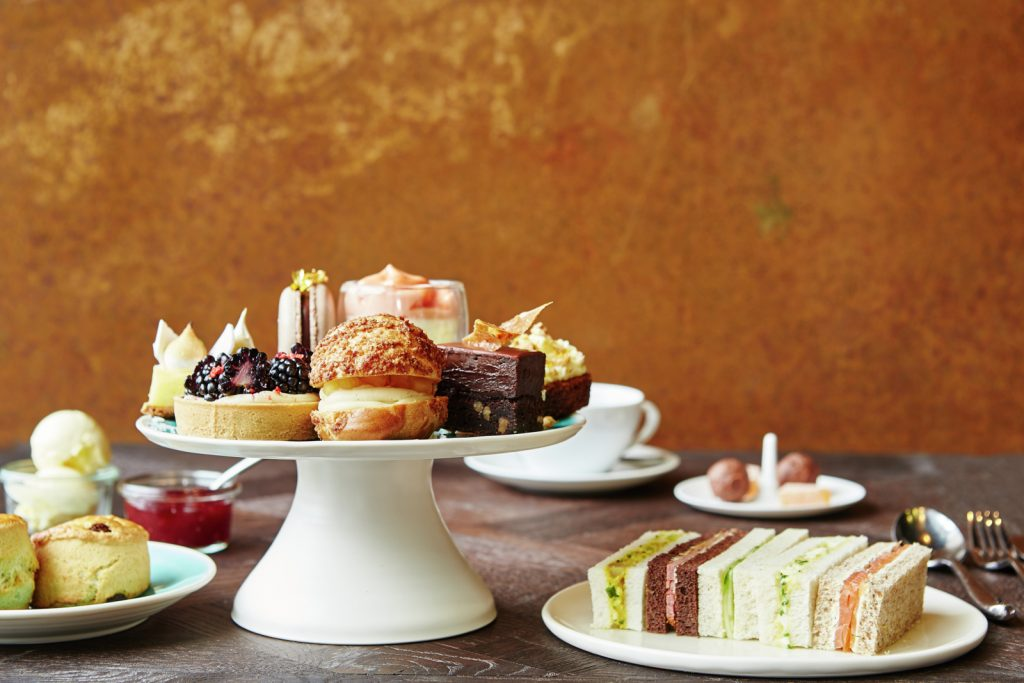 Afternoon tea at Barbecoa. Photo courtesy of Jamie Oliver Restaurant Group.