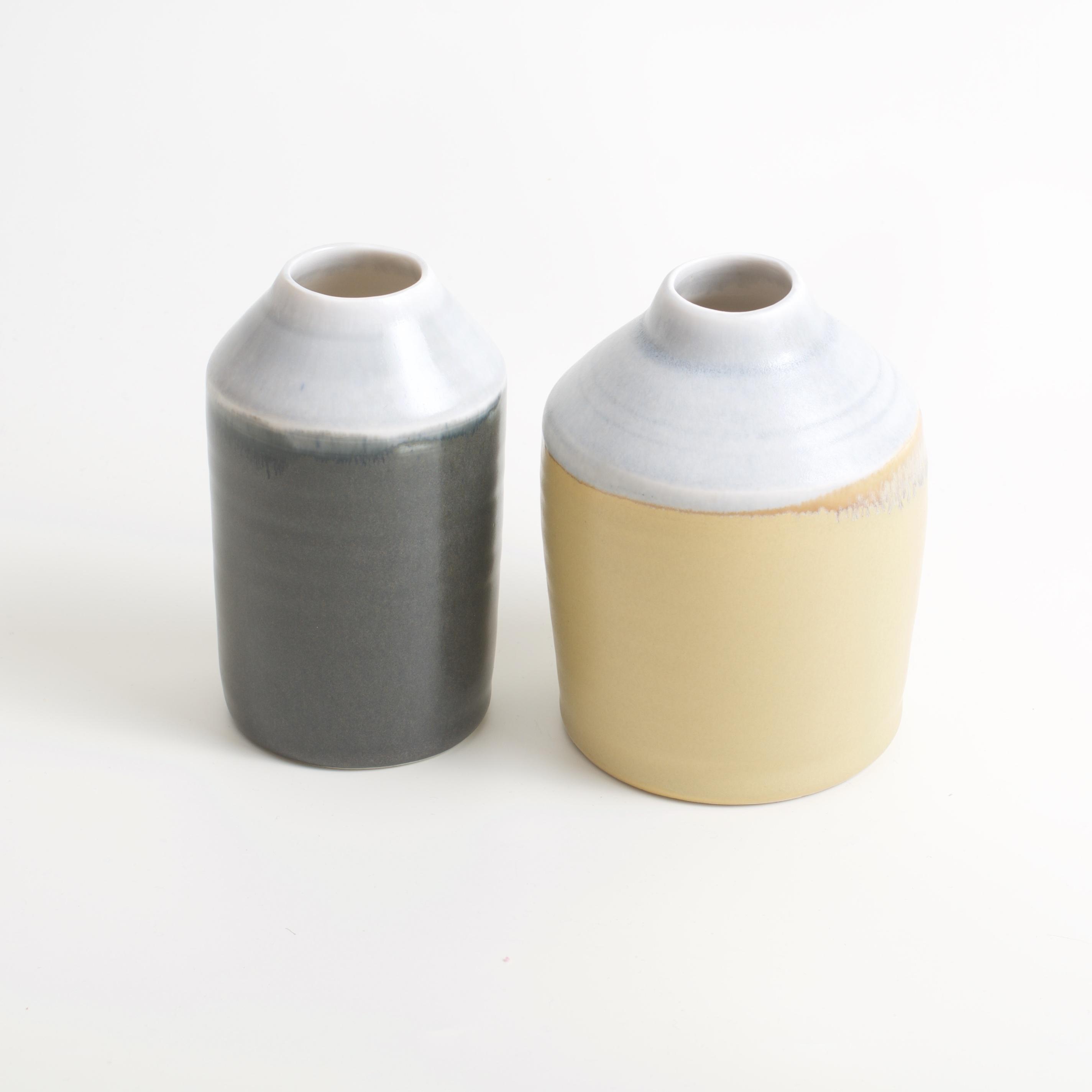 Linda Bloomfield two-tone bottles mustard and slate