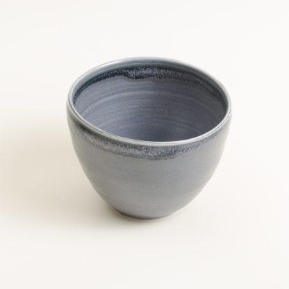 Handmade Porcelain Bowl- black glaze- linda bloomfield- tableware