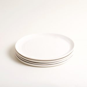 Hand thrown matt dinner plates by Linda Bloomfield.- tableware- dinnerware